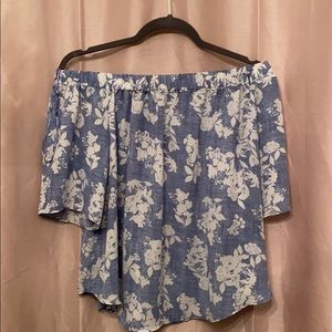 Tops - Off shoulder size large but I'm a small fit